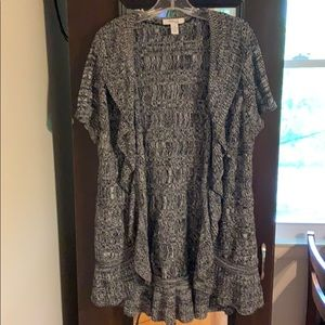 Style & Co. Knit Cascade Ruffle-base Cardigan